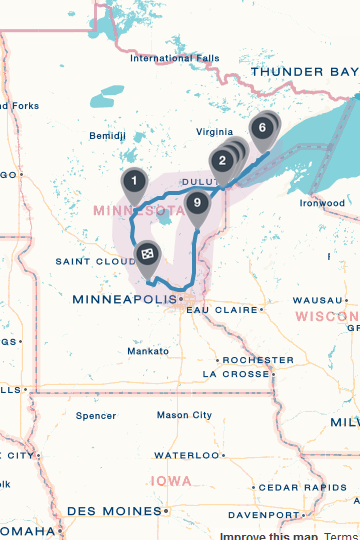 Our Mn Roadtrip Aug 22nd -Aug 26th