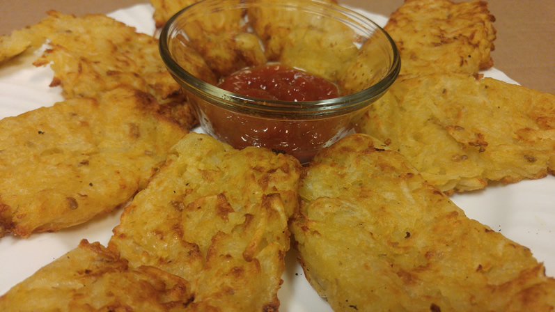 Air Baked Hashbrown Patties Recipe
